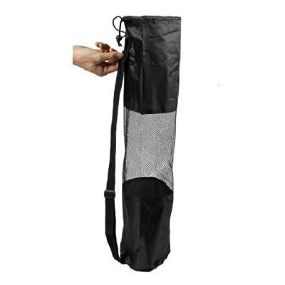 Dcolor Tragbare schwarze Tasche fuer Pilates Yogamatte