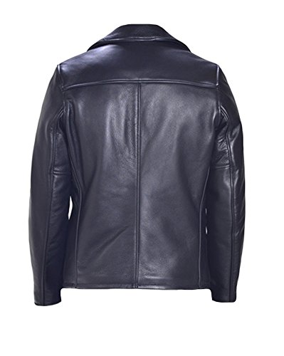 classyak Herren Fashion Vintage Schwarz Kuh Leder Jacke Cow Black