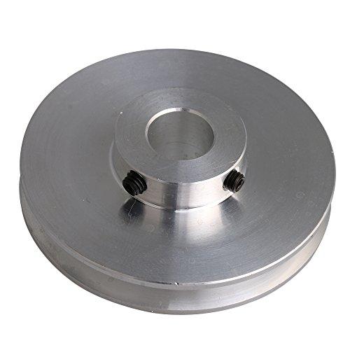 bqlzr 58x 16x 12mm Silber Aluminium-Legierung Einzel Groove 12mm Fixed Loch Pulley für Motor Schaft 3–5mm PU rund Gürtel