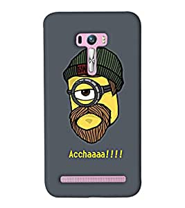 Go Yankee minion head saying accha Back Cover For Asus Zenfone Selfie
