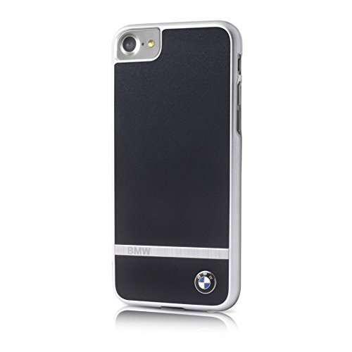 BMW - BMHCP7LASBK - Aluminium Stripe - Hardcover Case Handyhülle - Apple iPhone 7 Plus - Schwarz (BMHCP7LASBK)