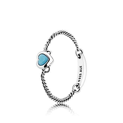 Pandora anello solitario da fidanzamento donna argento - 197191nya-56