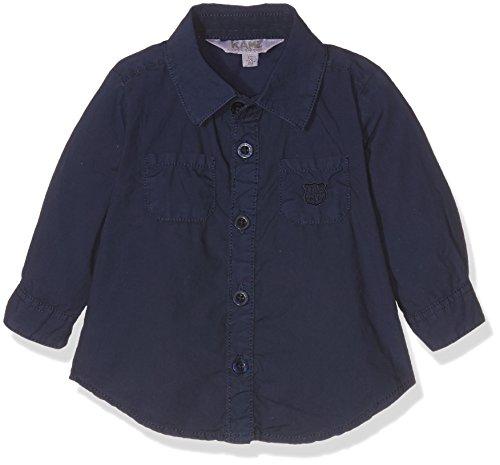 Kanz Jungen Bluse Hemd 1/1 Arm, Gr. 86, Blau (peacoat 3470)