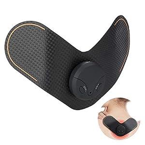 EMS Massagegerät für Rücken, Elektromassagegerät, Tragbares Massagegerät Elektrischer Puls Massage Kabellos Elektrostimulationsgerät Wiederaufladbares für Hals Schulter Bein Ellbogen