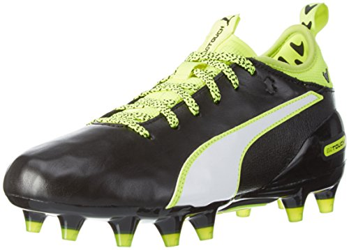 Puma Evotouch 1 Fg Jr, Scarpe da Calcio Unisex – Bambini Nero (Schwarz (black-white-safety yellow 01))