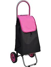Carrello Leggero, Resistente E Leggero In Microfibra, Trolley Per La Spesa, Carrello Portatile, 90X45x33cm,Pink