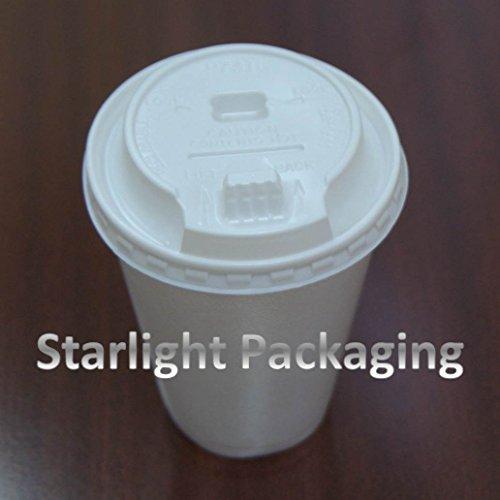 200Arbeitshemd Polystyrol Tassen mit Dome SIP Thro Deckel