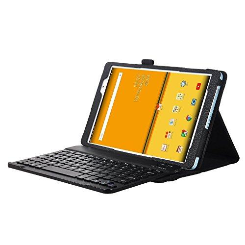 ELTD Huawei MediaPad M3 Lite 10 Tastatur, Detachable Bluetooth Tastatur (QWERTZ Tastatur) mit Standfunction Für Huawei MediaPad M3 Lite 10, Schwarz