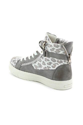 Baskets en velours scintillante esprit léopard Gris