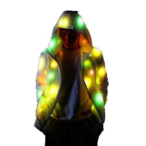 LED Light Up Jacket, LED Flashing Outwear Bühnenkostüme für die Dance Show Halloween