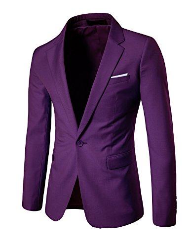 Preisvergleich Produktbild Letuwj Herren Casual Anzug Jacke slim fit XXXL Lila