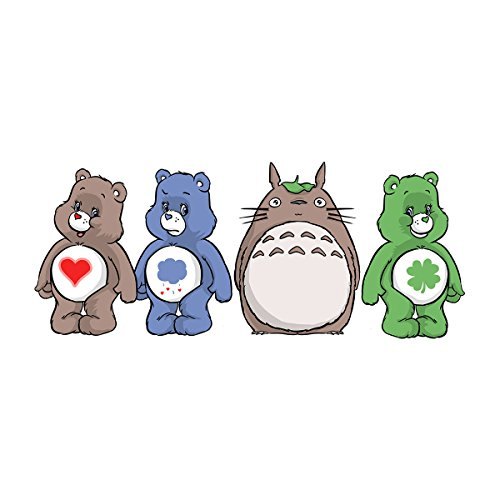 My Neighbor Totoro Care Bears Men's Vest White
