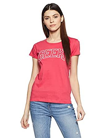 Cloth Theory Women's Regular Fit T-Shirt (TSWB23_Coral Pink_Small)