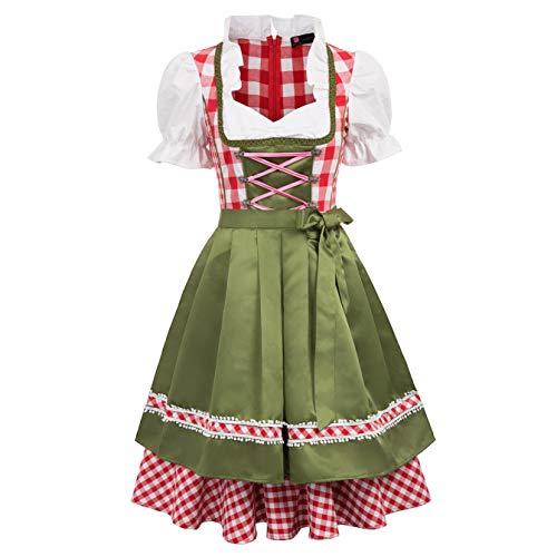 Bayerisches Oktoberfest Kostüm Bier Festival Kostüm Swing Kleider Dunkelgrün Medium