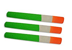 Upper Cut Indian Tri-Colour Cricket Bat Handle Grip (Pack of 3)