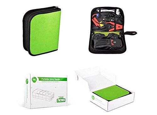 Arrancador 16800 mAh Jump Starter para Baterías de 12V Batería Externa Portátil con Linterna del LED,Arrancador de Coche, Moto y Diesel (Rojo)