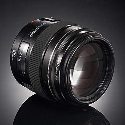 ETbotu YN100 mm F2 Mediano teleobjetivo Prime Lente con AF MF 100 mm Fijo Foco Longitud Apertura F/2~F/22 para cámaras Canon EOS Rebel
