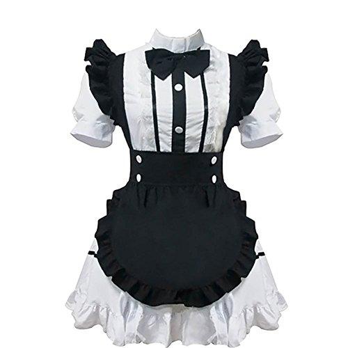 Kostüm Französisch Dienstmädchen - Zhiqing Frauen französisches dienstmädchen - kostüm Halloween - kostüm schick Cosplay Kleid nachtwäsche Dessous - Sets (M)