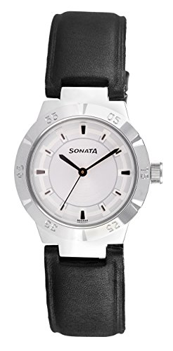 41FgMrKhWIL - Sonata 7098SL01 Everyday Silver Mens watch