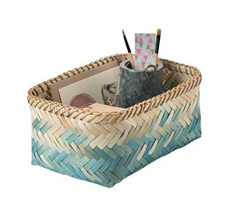 Compactor Lisou Tejido cestas de 9, bambú, Agua, Medium