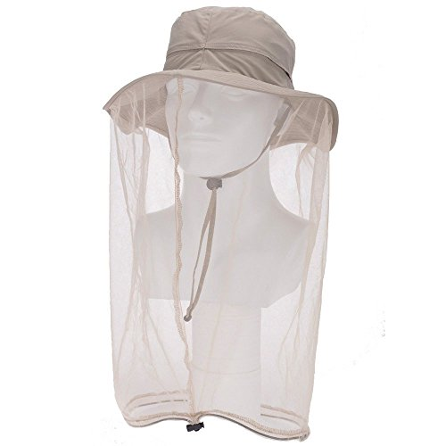 zelta-outdoor-bee-mosquito-fly-head-veil-net-beekeeping-face-protection-hat-polyester-khaki