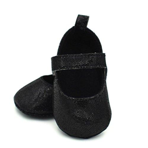 Igemy 1 Paar Neugeboren Kleinkind Baby Säuglinge Mädchen Niedlich Weiche Sequins Anti-Rutsch Schuhe Schwarz