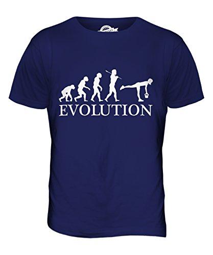CandyMix Kugelhantel Evolution Des Menschen Herren T Shirt Navy Blau