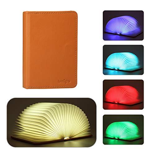 Innoo Tech LED Buchlampe Akku Nachttischlampe, Klapp Buch Lampe, 360° Faltbare Led Stimmungsbeleuchtung Schreibtischlampe mit Multi-Farben(fünf Farben in einem Buch mit Drucken auszuwählen) - Licht Net Multi-grünes Kabel