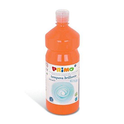 Primo Schulmalfarbe Tempera Farbe, 1000 ml Flasche mit Dosierverschluss (Orange)