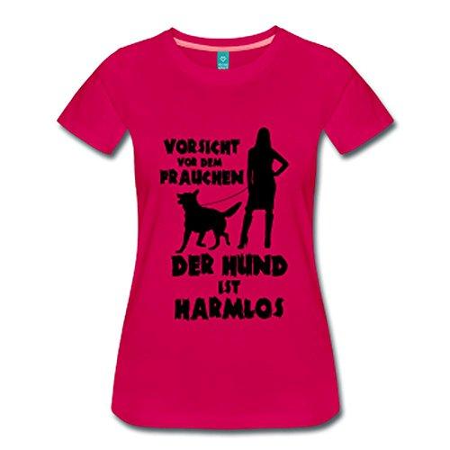 Schäferhund: Vorsicht vor dem Frauchen – der HUND ist HARMLOS Dunkles Pink