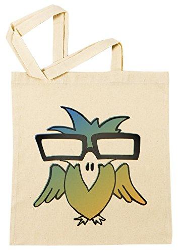 Intelligent Vogel mit Brille Geek Einkaufstasche Wiederverwendbar Strand Baumwoll Shopping Bag Beach Reusable