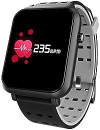 CplaplI Reloj Inteligente de Pulsera, Pulsera Inteligente con Bluetooth, frecuencia cardíaca, presión Arterial, Pulsera de Seguimiento de Actividad física