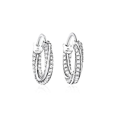 platine plaqué cubic zirconia boucles d'oreilles/Tempérament de boucle d'oreille de mode Japon-Corée/ bague de serrage oreille oreille-A