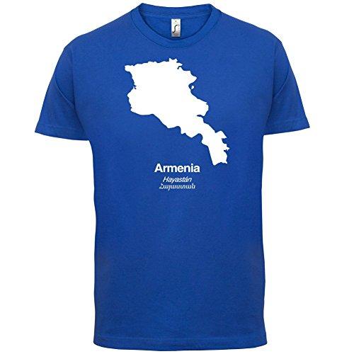 Armenia / Armenien Silhouette - Herren T-Shirt - 13 Farben Royalblau