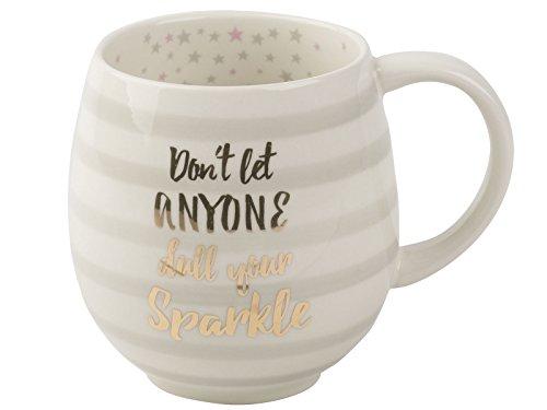 CREATIVE TOPS Sparkle Tulipe Mug, Gris