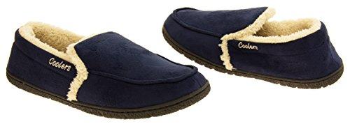 Hommes Coolers faux daim rembourré confortable Bleu