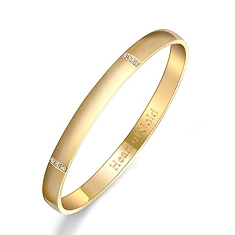 Guqiguli Bracelet plaqué or 14K Bracelet pour femme gravé