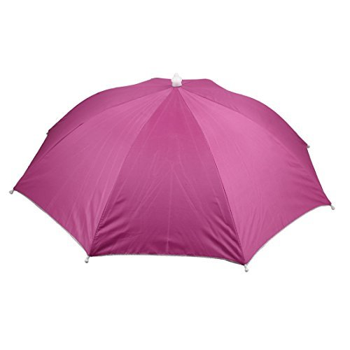 Outdoor Sport Golf Angeln elastisches Stirnband Gefaltete Regenschirm-Hut-Rosa