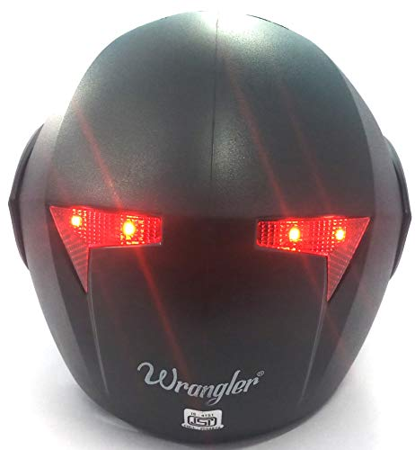 FLYP Flip-Up bluetooth Helmet kit With Blinking LED brake Indicator light (Black), smart helmet kit