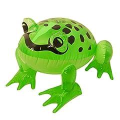 Idea Regalo - HENBRANDT - Rana gonfiabile verde, 39 cm
