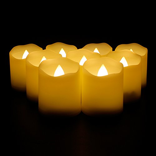 YAOBLUESEA 9er LED Kerzen Teelicht Kerze Flammenlose mit Fernbedienung Batterien Kerze LED Kerze mit Timer Fernbedienung Batterien für Weihnachtsdeko Hochzeit Geburtstags Party (Milchig)