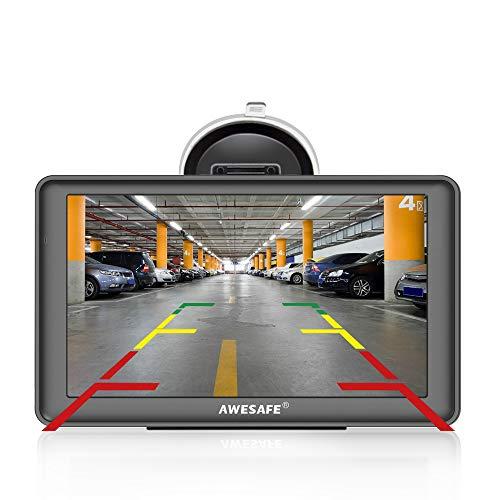 GPS Voiture Auto Europe 7 Pouces Système de Navigation Automatique à Ecran Tactile Cartographie Europe 52 à Vie Caméra de recul Mises à Jour gratuites de la Carte à Vie