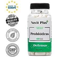 Probióticos - 10 mil millones de UFC. Nueva fórmula potenciada de amplio espectro para mejorar la flora intestinal y el sistema inmunológico.