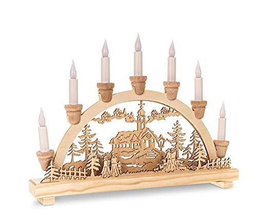Casa creativa decorazioni per la casa decorazione creativacandela natalizia in legno natalizia decorazione festiva a forma di ponte candela a luci bianche calda a forma di candela a led - porta u