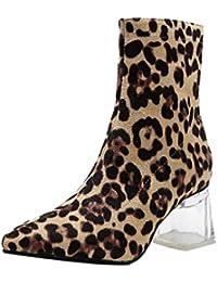Amazon.es  Leopardo Zapatos - Botas   Zapatos para mujer  Zapatos y ... e078041583ab