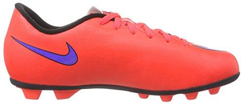 Nike Jr. Mercurial Vortex Ii Fg, Chaussures de Football Compétition mixte enfant Rouge - Rot (Leuchtendes Karmesinrot/Persisches Violett)