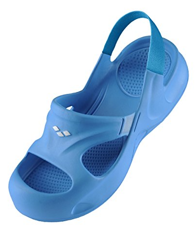 Arena softy hook, scarpe da spiaggia e piscina unisex-bambini, blu (turquoise/eolia 077), 26/27 eu