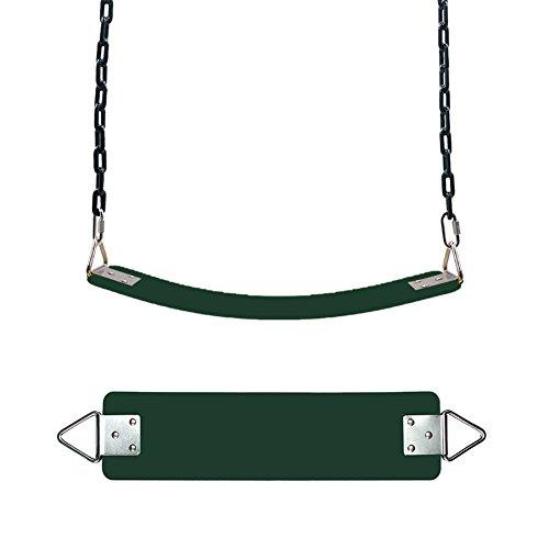 Bulary Sitz Ersatz-EVA Soft Plate mit dreieckiger Swing Iron Tabelle wetterfest Garten Schaukel für Kinder Indoor & Outdoor Swing Sitz Zubehör, grün (Outdoor-schaukel-ersatz)