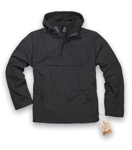 BRANDIT Side Zip Hooded Windbreaker Kapuzenjacke m. Fleece Futter, M Zip Windbreaker
