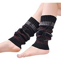 Fami Le donne inverno caldo del Crochet del Knit del ginocchio scaldini del piedino delle ghette di avvio calzini